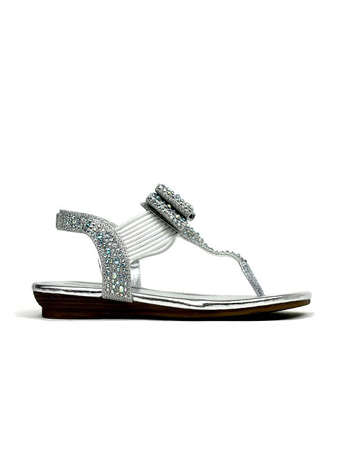 The Holiday Sandal Silver
