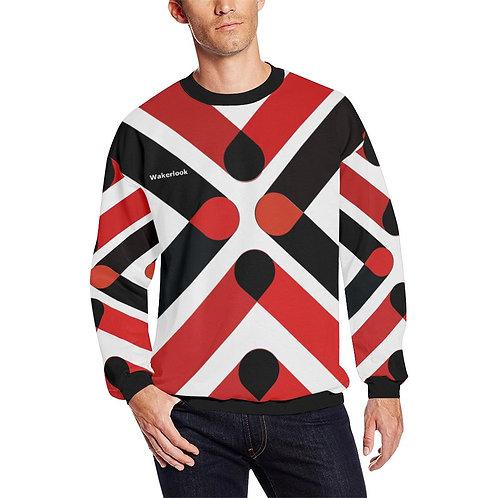 Wakerlook Men's All Over Print Fuzzy Sweatshirt