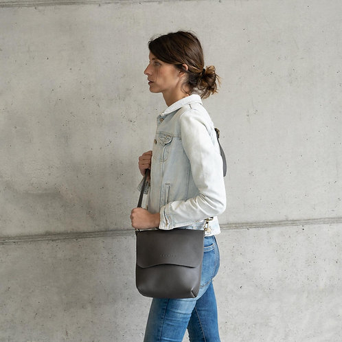 Available in 16 colors! Leather Crossbody Bag. Handcrafted. UN