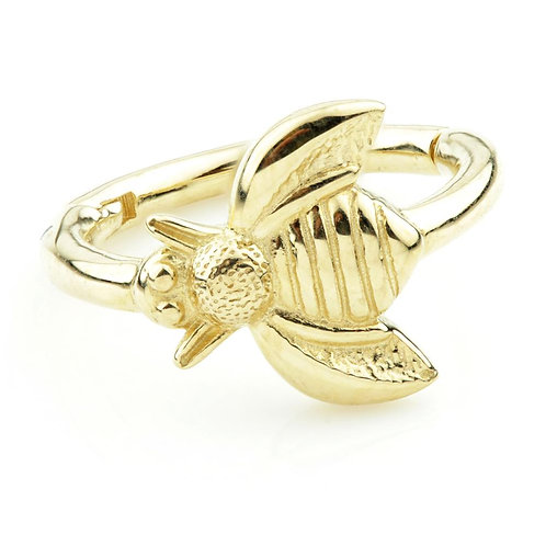 Solid Gold Bumblebee Hinge Rook Ring