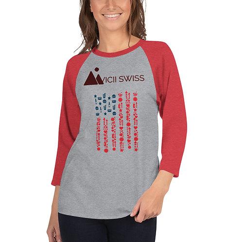 AVICII SWISS 3/4 sleeve raglan shirt