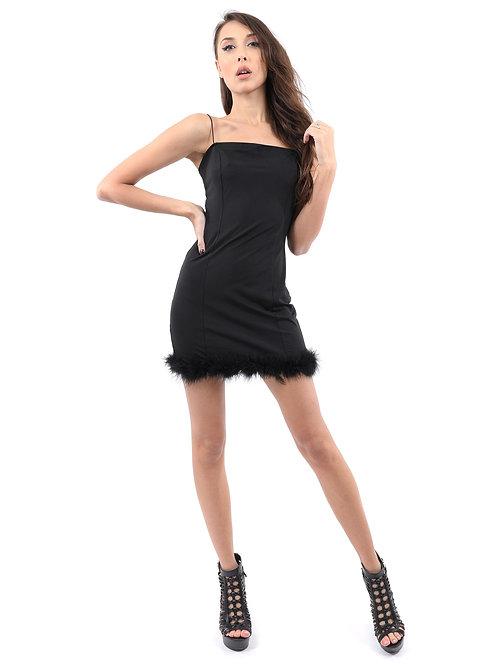 Savoy Active AVICII SWISS Collaboration Noel Mini Dress With Fur Hem