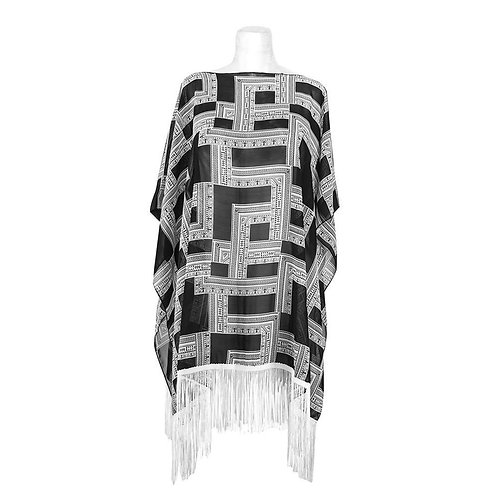 Black&White Poncho