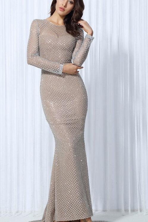 Silver Lattice Evening Dress AVICII SWISS Evelyn Belluci Collaboration