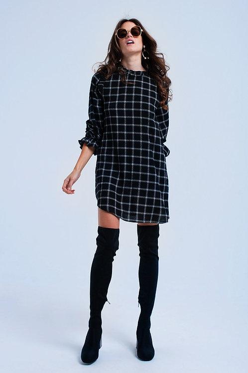 Black Checked Dress Q2- AVICII SWISS COLLABORATION