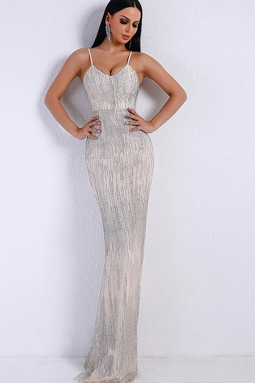 Silver Evening Gown AVICII SWISS Evelyn Belluci Collaboration