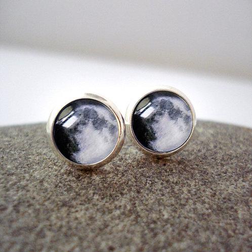 My Moon Custom Small Stud Earrings