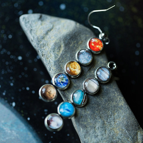 Solar System Mis-Matched Earrings