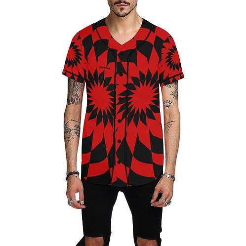 Wakerlook Men's All Over Print Red Jersey