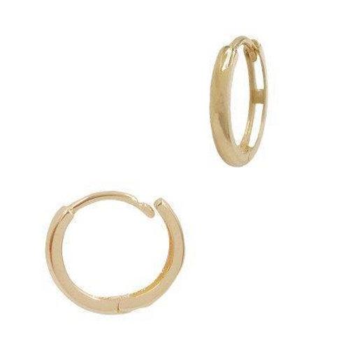 14k Gold Simple Minimalist Hoop Earrings, Gift for Her. AVICII SWISS