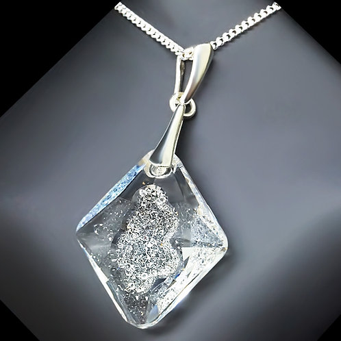 "925 Sterling Silver ""Growing Crystal"" pendant with Crystals From Swarovski™"
