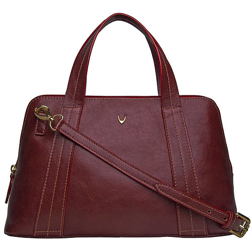 Cerys Medium Leather Satchel With Shoulder Strap