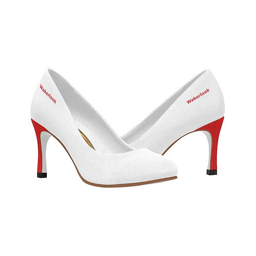 Original Wakerlook Women's White and Red Heels