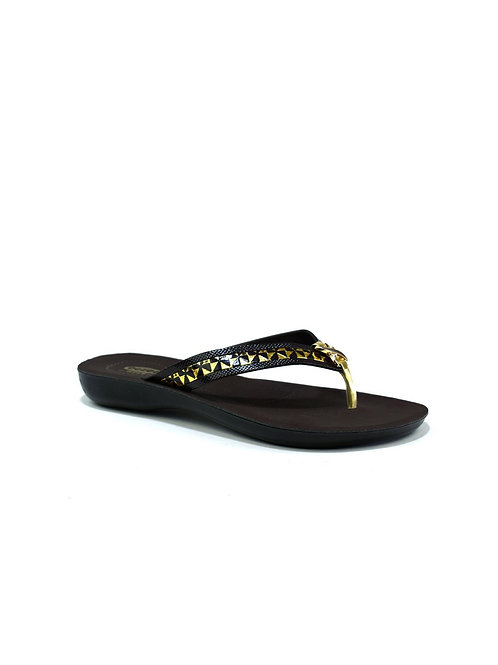 Lucky Shamrock Flip Flop Brown