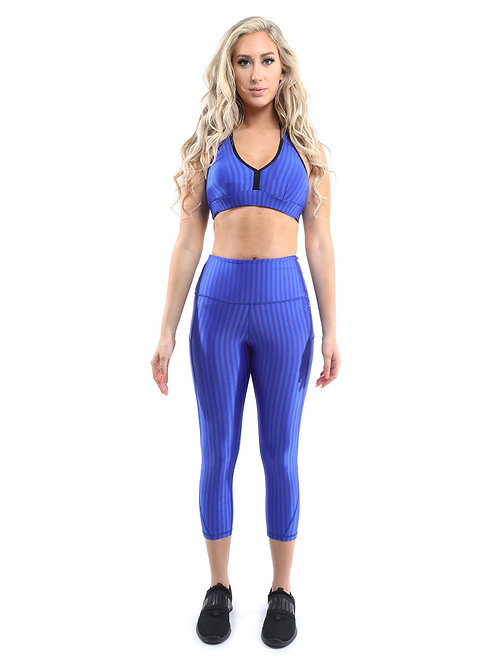 Firenze Activewear Set - Leggings & Sports Bra -Blue [MADE IN ITALY] AVICIISWISS