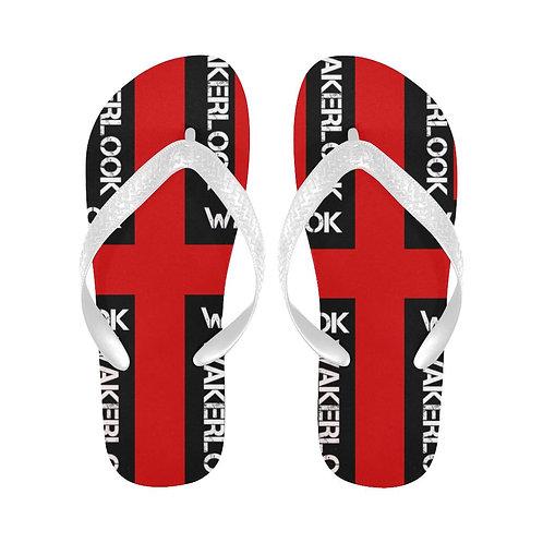 Fashion Wakerlook Red Flip Flops
