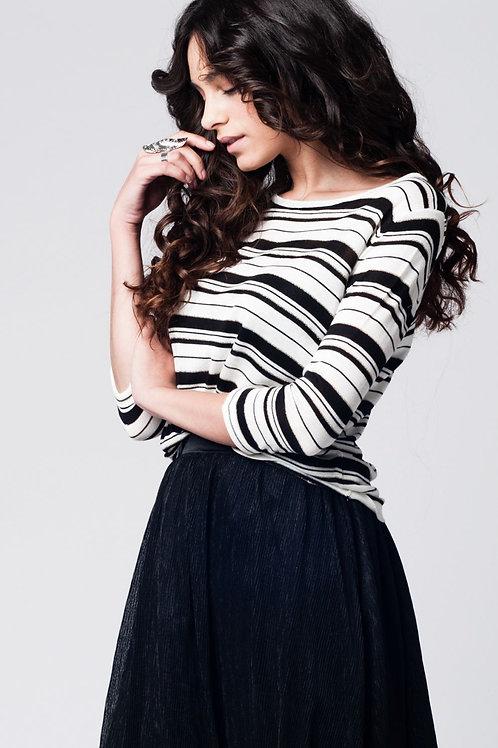 Black Striped Knit Sweater Q2-AVICII SWISS Collaboration