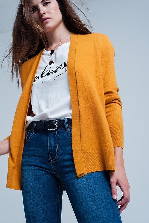 Fuzzy Mustard Long Sleeves Sweater With Angora Q2- AVICII SWISS COLLABORATION