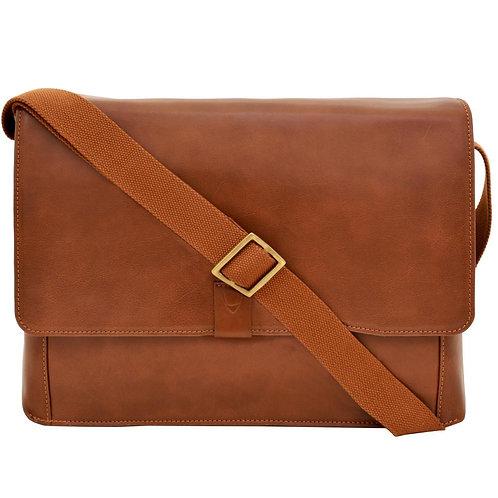 Aiden Horizontal Leather Messenger Bag
