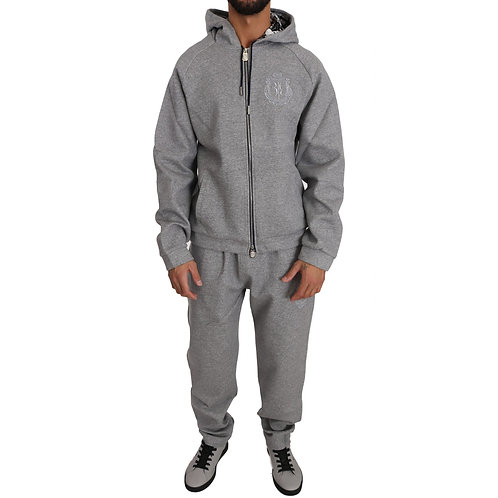 Billionaire Italian Couture Hooded neck full zip 100% Cotton Sweater and Pants -