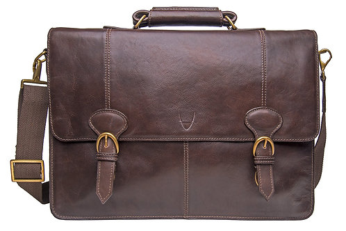"""Parker Large 17"""" Laptop Compatible Leather Briefcase"""