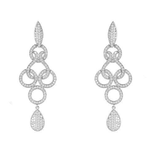Celtic Knot Shannon Drop Earrings Silver
