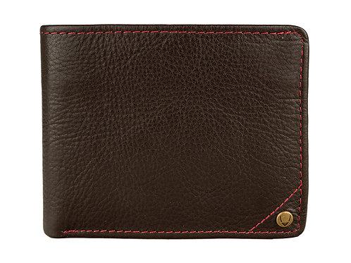 Hidesign Angle Stitch Leather Slim Bifold Wallet