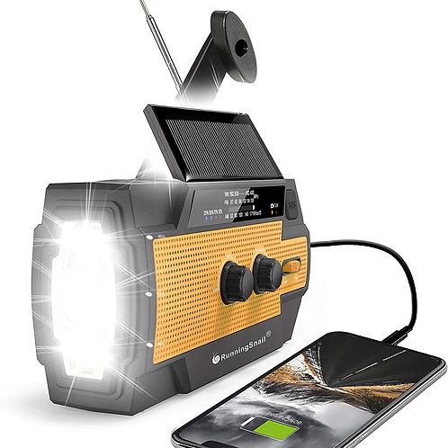 2021 Newest Emergency Crank Radio,4000mAh-Solar Hand Crank Portable AM/FM/NOA
