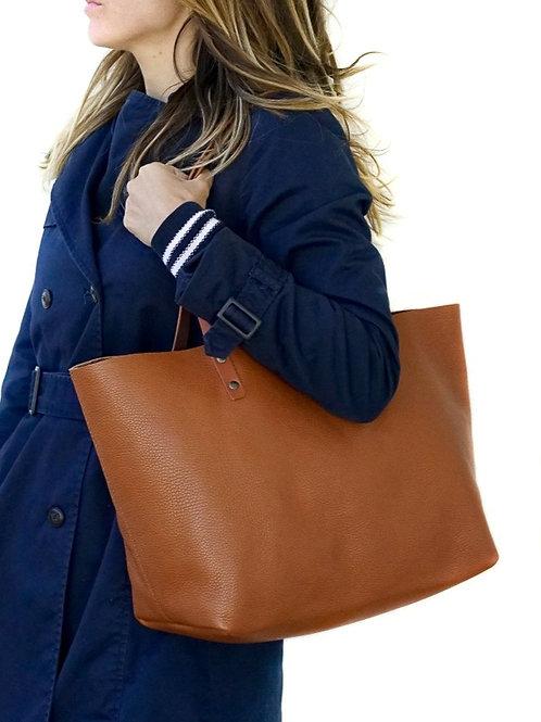 Leather Tote Bag Handmade. TER