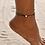 Thumbnail: Boho Multi Layer Heart Anklet Ankle Bracelet