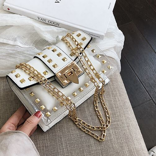 Betty Shoulder Bag -Clear/White