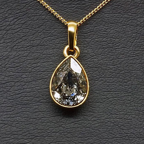 """Crystal Drop (Black Patina)"" pendant with Crystals From Swarovski™"