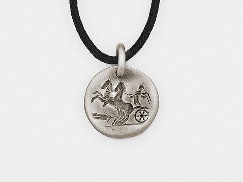 """Chariot"" Intaglio Pendant in Sterling Silver"