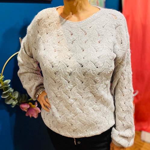 Pull Nelly gris clair