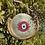 Thumbnail: Sac rond Occhio fushia doré