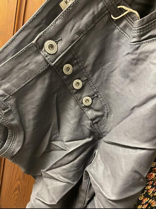 Pantalon enduit gris
