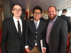 At the Student Emmy awards with Ben Hoff and Ryan Stratton