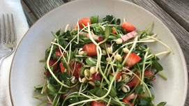 Spring Strawberry and Microgreens Salad