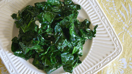Weekend Batch Cooking:  Garlic Greens