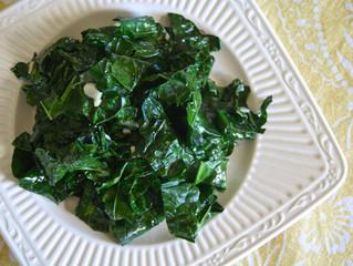 Weekend Batch Cooking:  Garlic Greens
