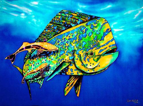 Jean-Baptiste Painting of a dorado fish