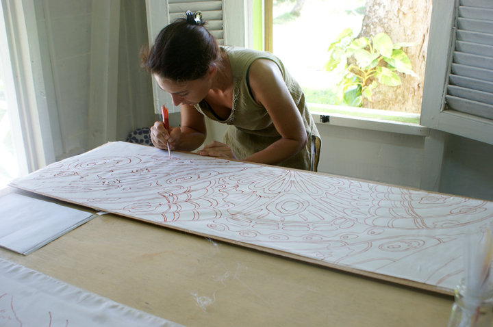 St. Lucia silk studio