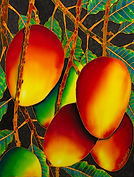 Jean-Baptiste silk painting of   mangos