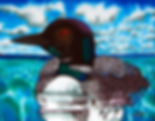 Jean-Baptiste silk painting of a Canadian Loon