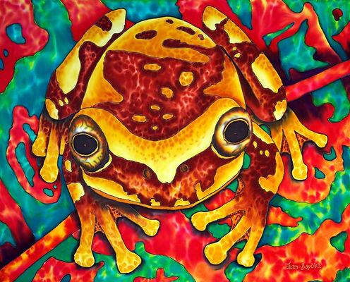 Jean-Baptiste Silk Painting of a treefrog