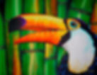 Jean-Baptiste silk painting of a toucan