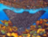 Jean-Baptiste Batik Silk Painting of an Eagle ray