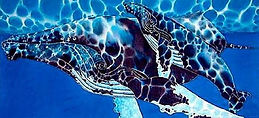 Jean-Baptiste Hand Painted silk art of a tarpon fish
