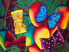 Jean-Baptiste silk painting of  butterfly
