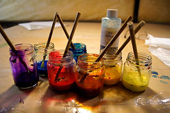 Jean-Baptiste silk paints in jars